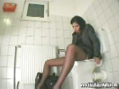 Office toilet slut, the nasty gimp