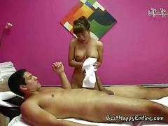 Massage therapist nikko jordan makes client nut