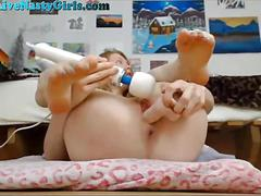 amateur, masturbation, teen, webcam, shaved, dildo, riding, toy