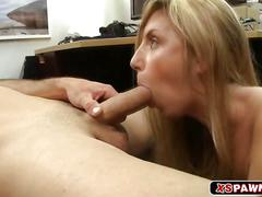 Sweet busty chick loves fucking hard for some cash