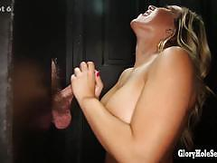 Blonde gloryhole secrets bombshell