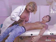 blonde, big ass, doctor, blowjob, busty, titjob, from behind, big penis, mom, doctor adventures, brazzers, chris diamond, leigh darby