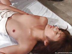 Cumshots galore for this cute japanese skank