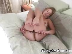 amateur, big boobs, masturbation