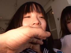 Japanese schoolgirl sayaka and mayumi