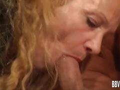 Horny german milfs share dick