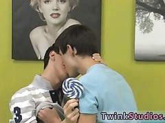 Twink with a sweet tooth for cocks loves lollipops as well