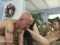 Brutal dick deeply in her shemale mouth  film