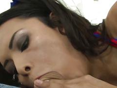 Guy copulating ultra hot shemale babe