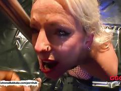 Sexy milf in bukkake arena