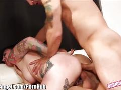 Burningangel curvy emo gets hard dp
