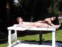 Outdoor sex massage from hot milf india summers