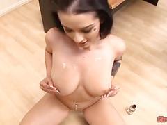 big boobs, cumshots, handjobs, pov, piercing