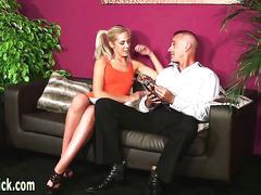 Kinky mistress blowing