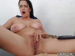 amateur, hardcore, masturbation, webcam, big boobs, brunette