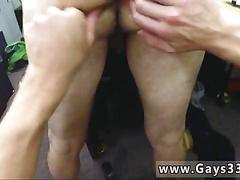Threesome fucking in the back office with stallions
