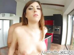 hardcore, anal, asstraffic, ass-fuck, european, brunette, babe, ass, big-tits, blowjob, deepthroat, tattoo, cumshot, cum-in-mouth, oral, raw
