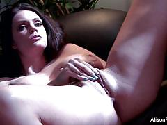 Alison tyler gets naked and horny