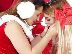 Santa left two naughty helpers