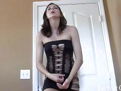 Stroke your cock and then eat your own cum cei