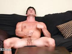 He is loosing his mind as he jerks his cock off