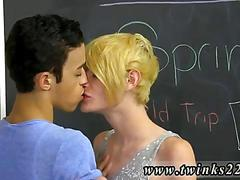 Making out with his buddy after school is dismissed