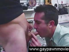 Straight sucking gay cock for pawn cash on camera