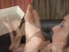 Lesbian slobbery foot worship
