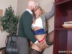 Blonde boss cherie deville gets hot office fucking