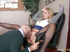 Blonde boss cherie deville gets hot office fucking