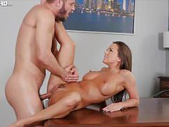 Hammering horny milf abigail mac deep in the clit slit
