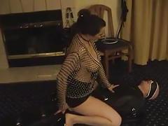 Girl fucking a slave - femdom