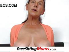 Stockings granny hairy linda pussy eating and facesitting