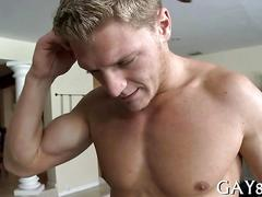 Stud stripped by a mature masseur for an anal annihilation