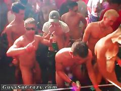 Skinny twinks partying and stripping to fuck on the dance floor