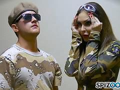 Army man gets lucky with jessica jaymes and nina elle