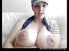 Girl has unbelievably large tits