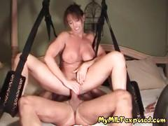 My milf exposed - busty milf on swing fucked hard