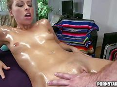 Hot facial after her massage