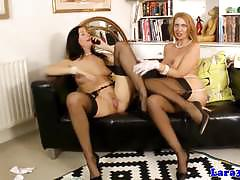 European beauties enjoy lesbian fun
