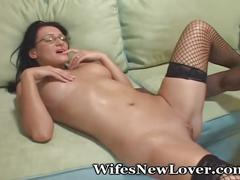 brunette, interracial, milf, for women, wifesnewlover, female-friendly, lingerie, stockings, missionary, cunnilingus, hardcore, bbc, blowjob, cowgirl