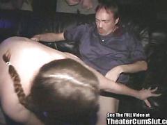 anal, brunette, gangbang, hardcore, public, sucking, group, oral, cinema