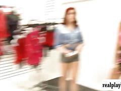 ass, babe, ebony, public, redhead