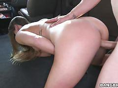 Kaylee banks getting nailed by a hard cock on the bangbus