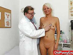 blonde, milf, pussy, wife, doctor, mom, mature, amateur