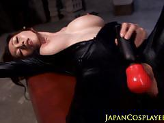 Busty asian gets her pussy nailed