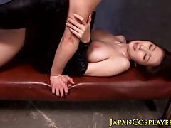 milf, busty, toy, dildo, vibrator, big boobs, japanese, uniform, bigtits, fantasy