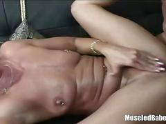 Horny milf moaning over fuck