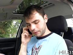 He gets his cock sucked in close up pov