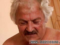Old man dives in her wet pussy and fucks her